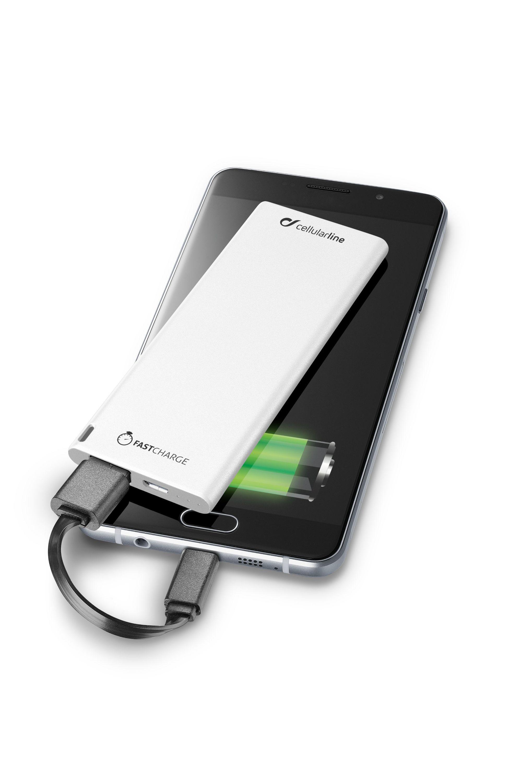 Ultratenká powerbanka CellularLine FREEPOWER SLIM s microUSB konekorem, 3000mAh, bílá