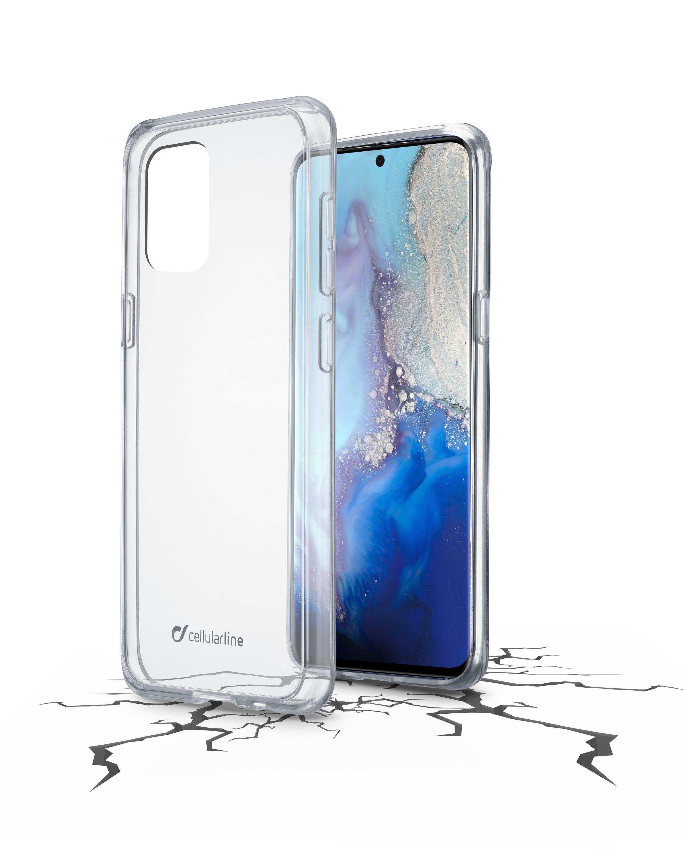 Zadní čirý kryt s ochranným rámečkem Cellularline Clear Duo pro Samsung Galaxy S20