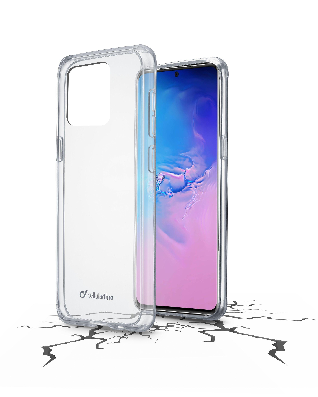 Zadní čirý kryt s ochranným rámečkem Cellularline Clear Duo pro Samsung Galaxy S20 Ultra