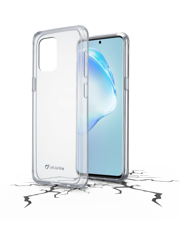 Zadní čirý kryt s ochranným rámečkem Cellularline Clear Duo pro Samsung Galaxy S20+