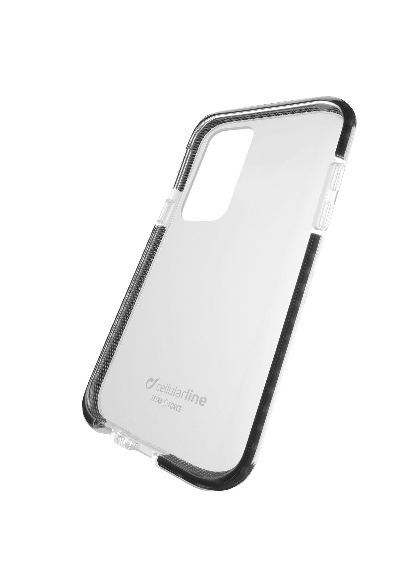 Ultra ochranné pouzdro Cellularline Tetra Force Shock-Twist pro Samsung Galaxy S20, 2 stupně ochrany, transp.