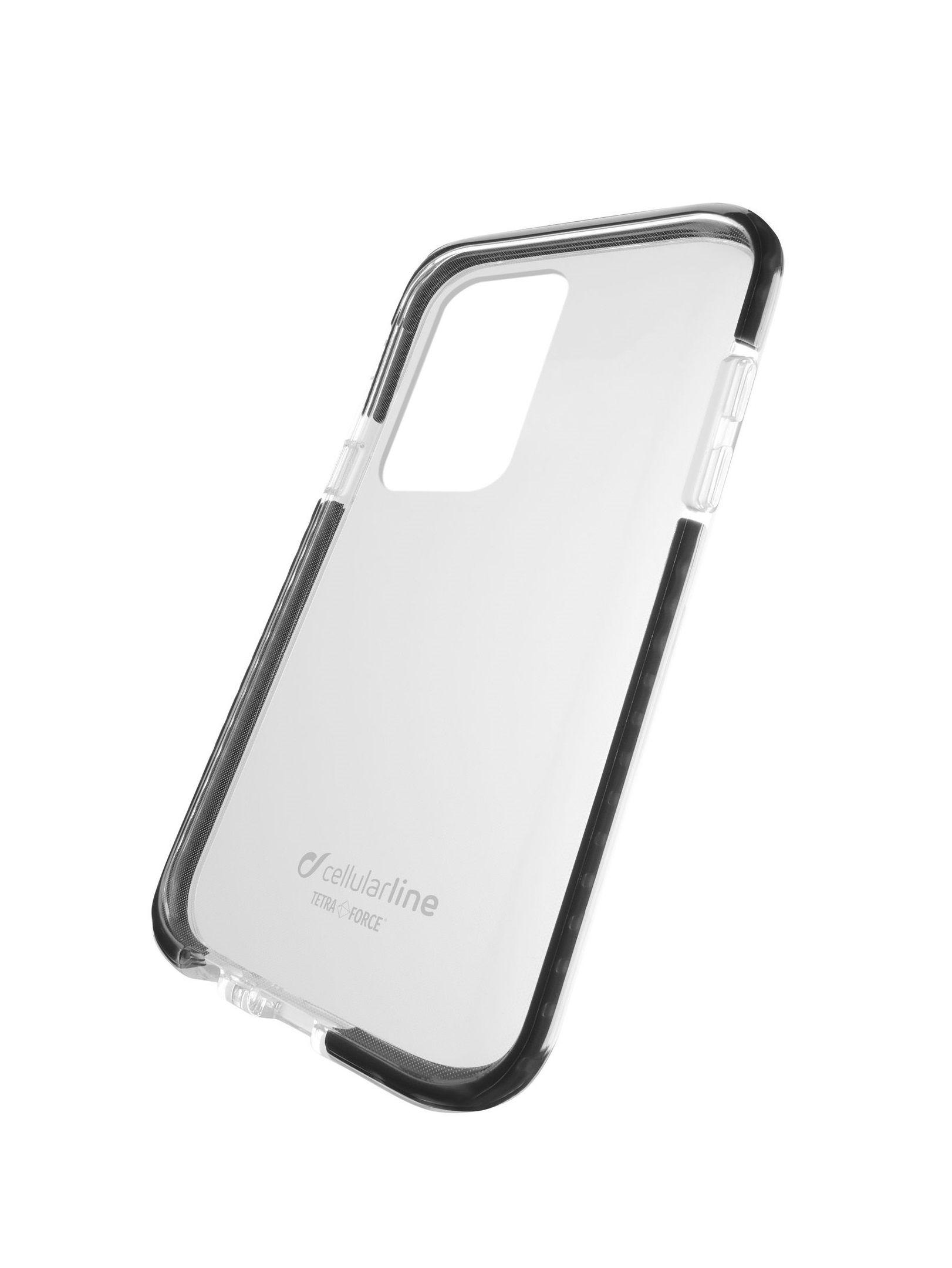 Ultra ochranné pouzdro Cellularline Tetra Force Shock-Twist pro Samsung Galaxy S20+, 2 stupně ochrany, transp.