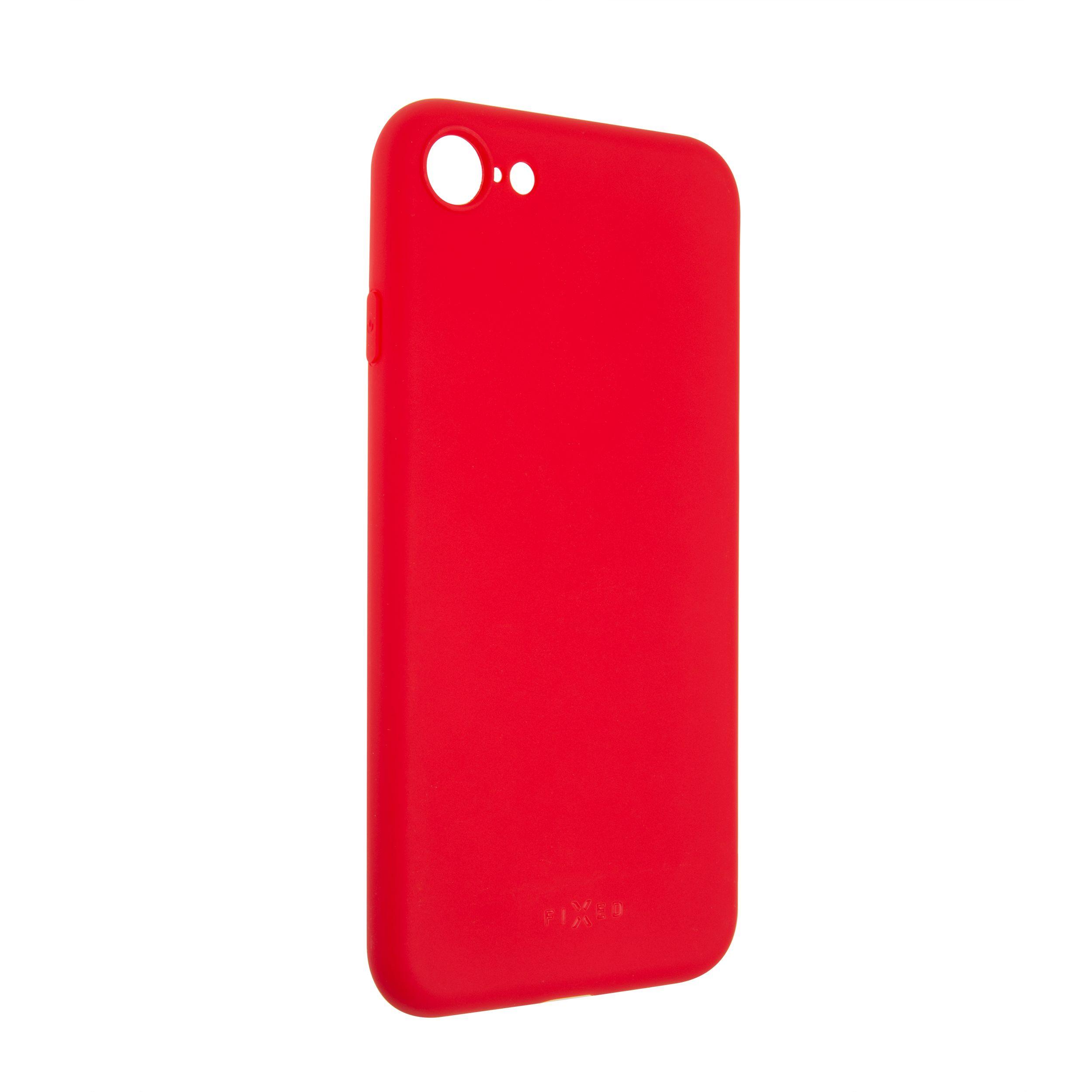 Zadní pogumovaný kryt FIXED Story pro Apple iPhone 7/8/SE (2020), červený