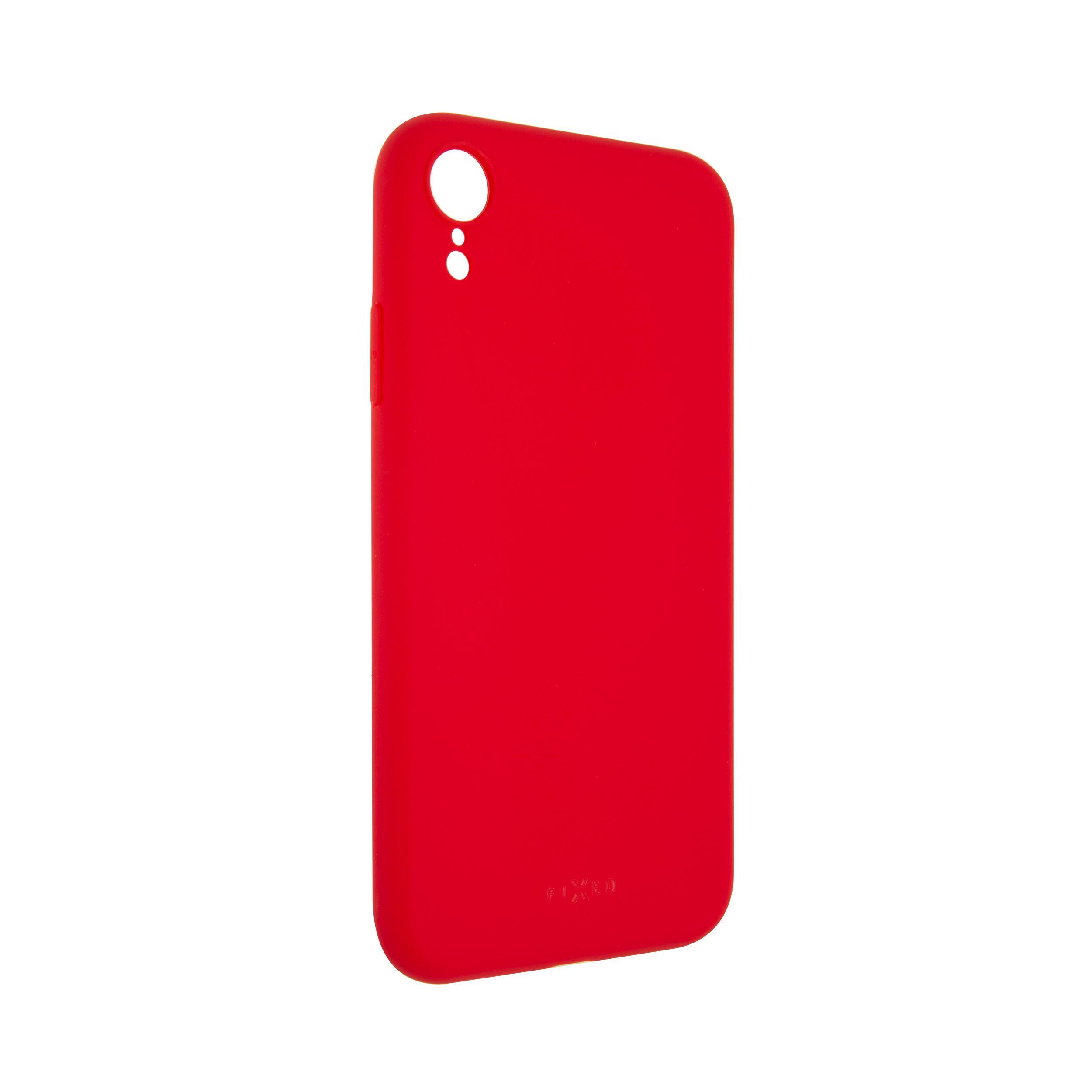 Zadní pogumovaný kryt FIXED Story pro Apple iPhone XR, červený