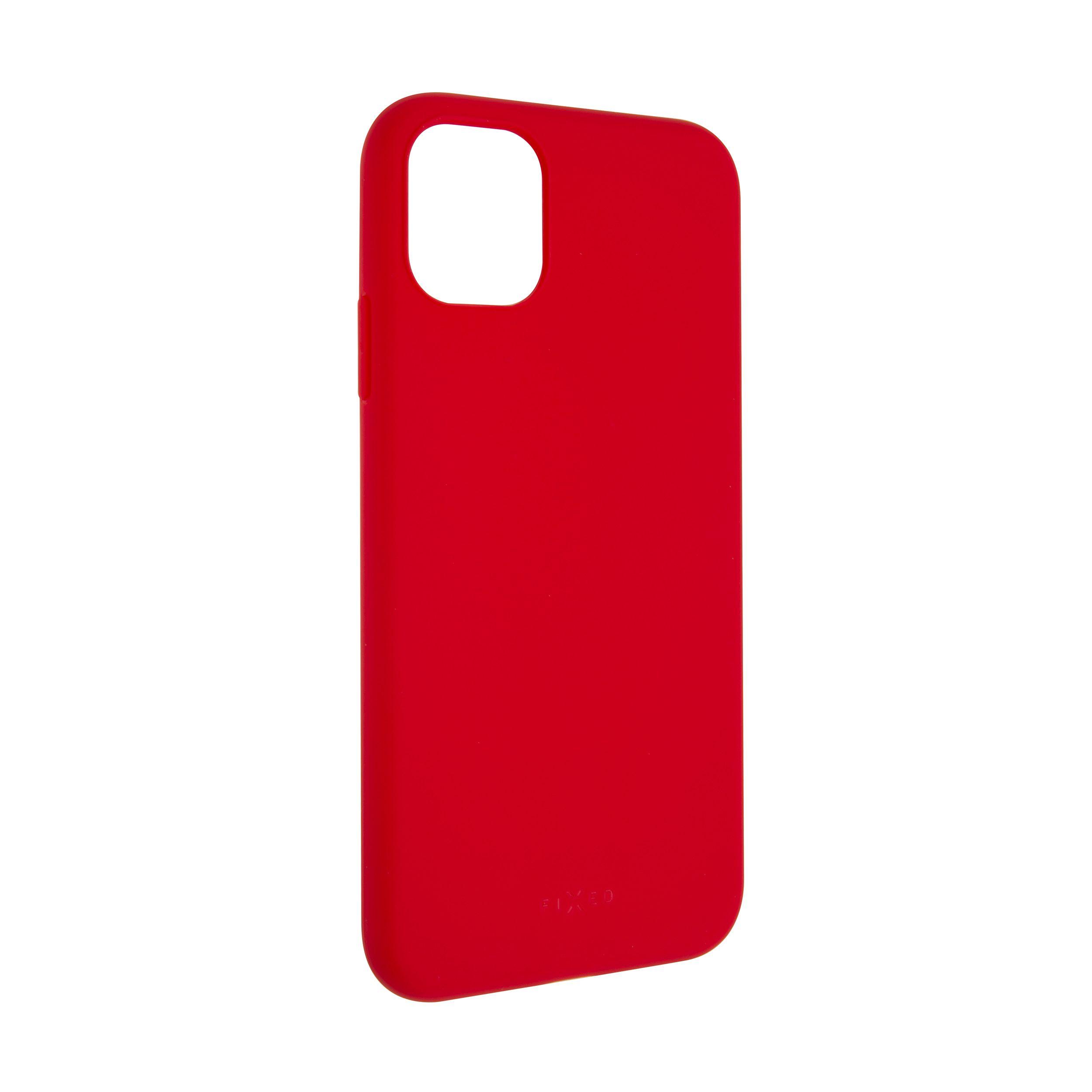Zadní pogumovaný kryt FIXED Story pro Apple iPhone 11, červený