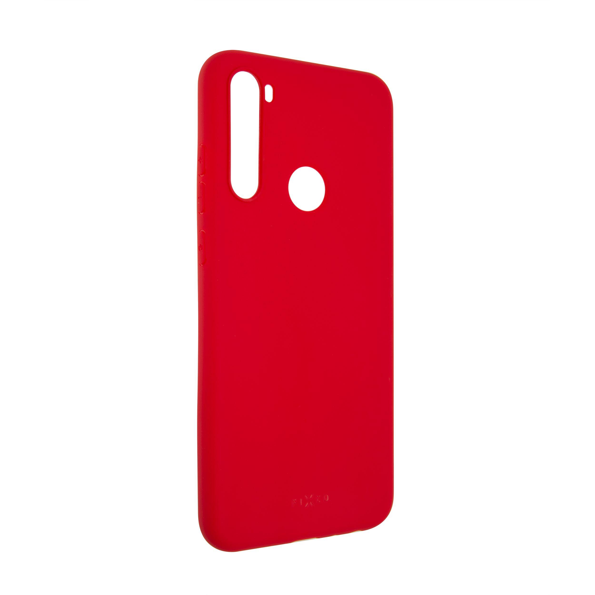 Zadní pogumovaný kryt FIXED Story pro Xiaomi Redmi Note 8T, červený