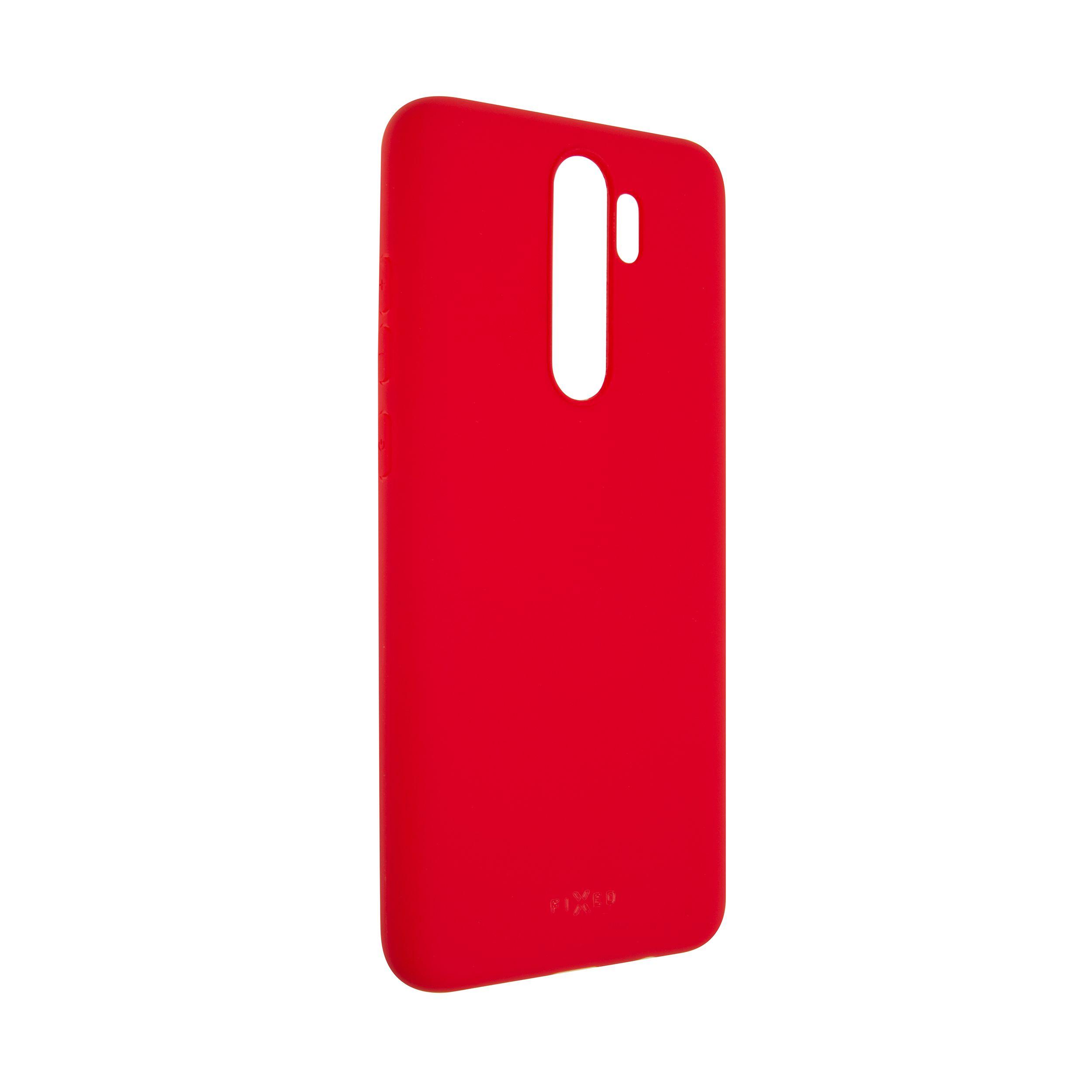 Zadní pogumovaný kryt FIXED Story pro Xiaomi Redmi Note 8 Pro, červený