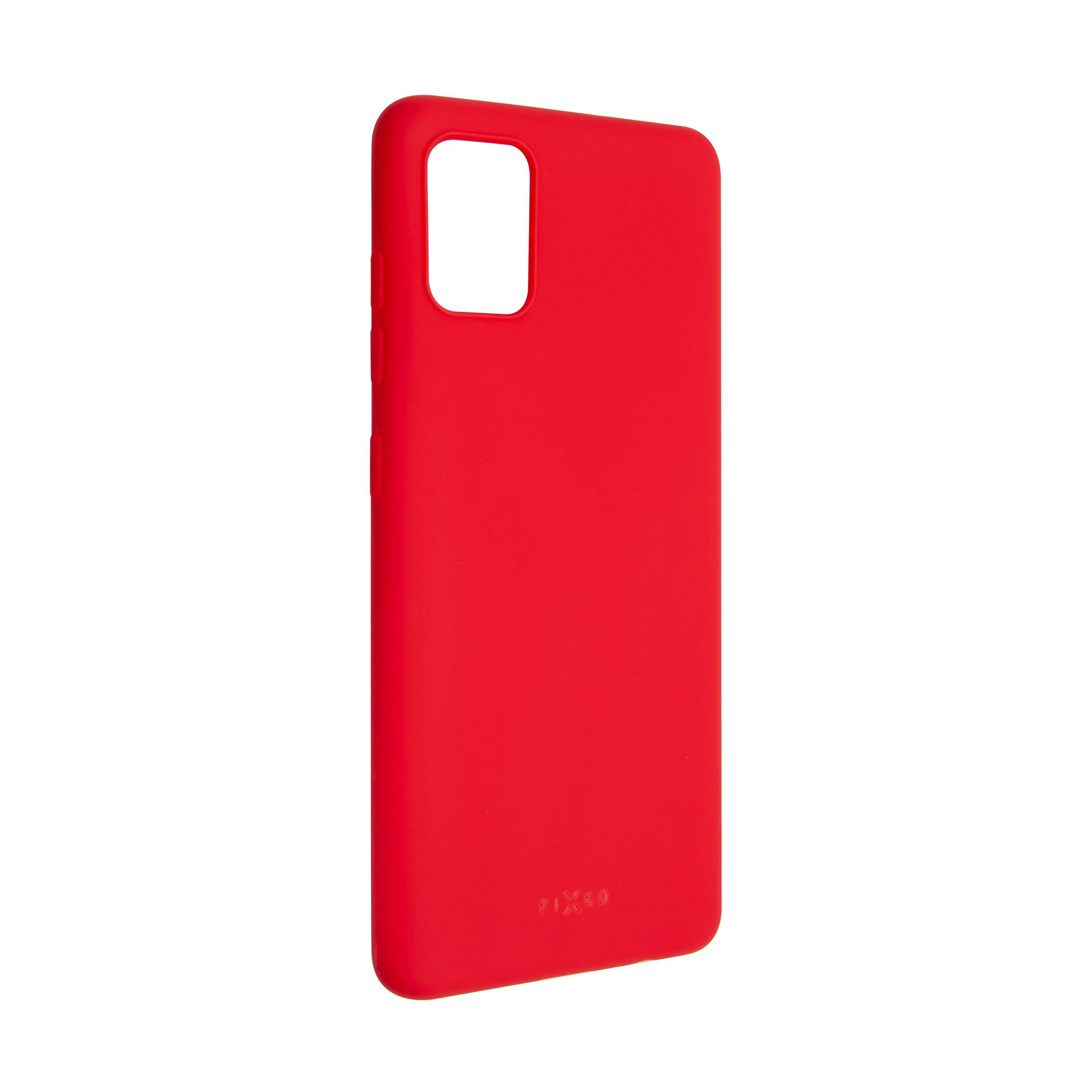 Zadní pogumovaný kryt FIXED Story pro Samsung Galaxy A51, červený