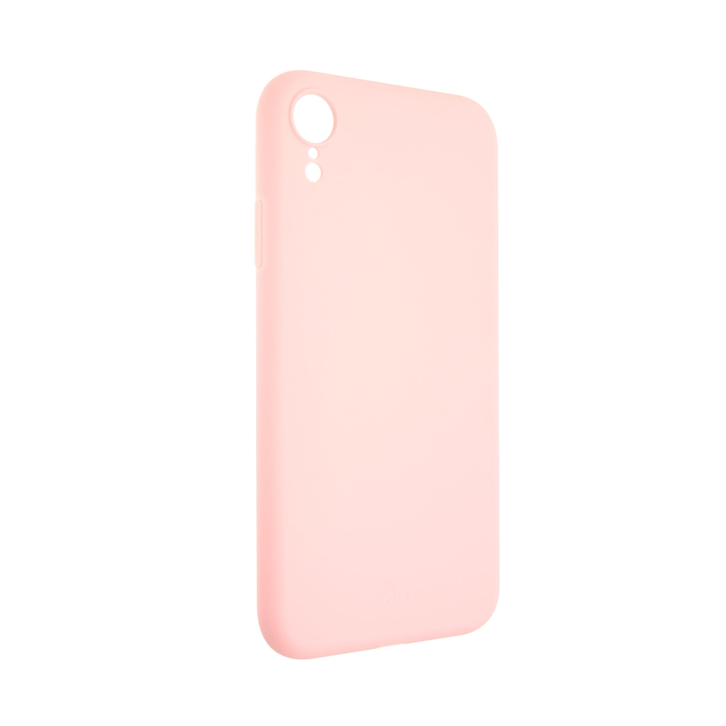 Zadní pogumovaný kryt FIXED Story pro Apple iPhone XR, růžový