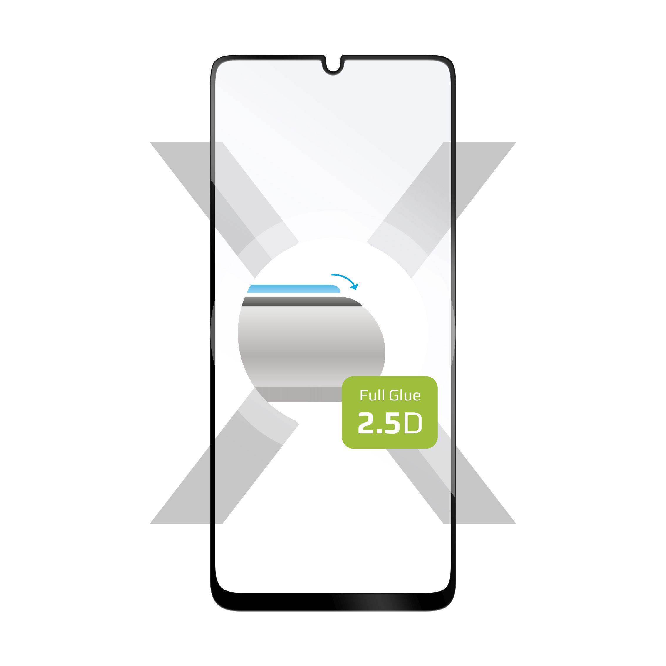 Ochranné tvrzené sklo FIXED Full-Cover pro Samsung Galaxy A31, lepení přes celý displej, černé
