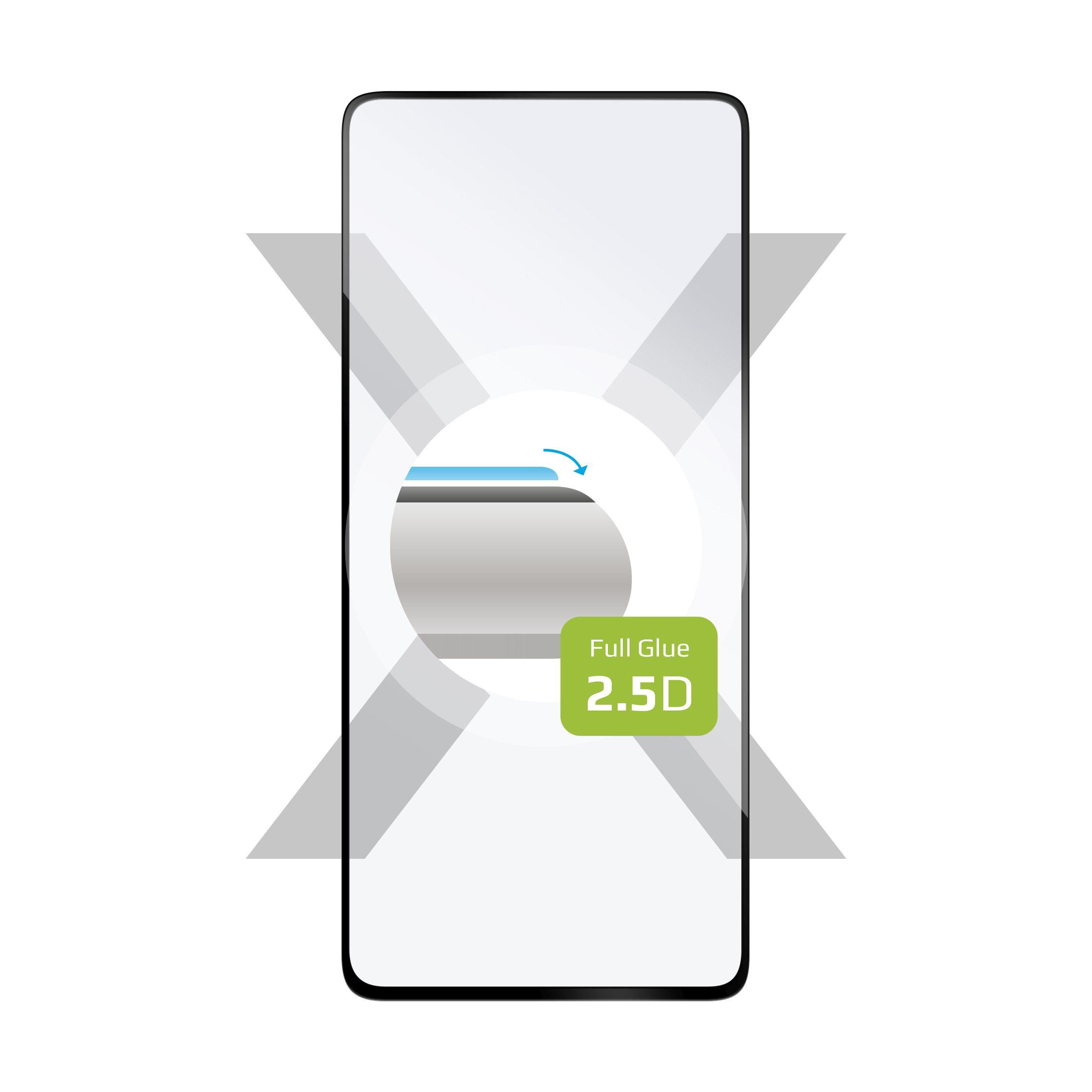 Ochranné tvrzené sklo FIXED Full-Cover pro Xiaomi Redmi Note 9 Pro/9 Pro Max/Note 9S, lepení přes celý displej, černé