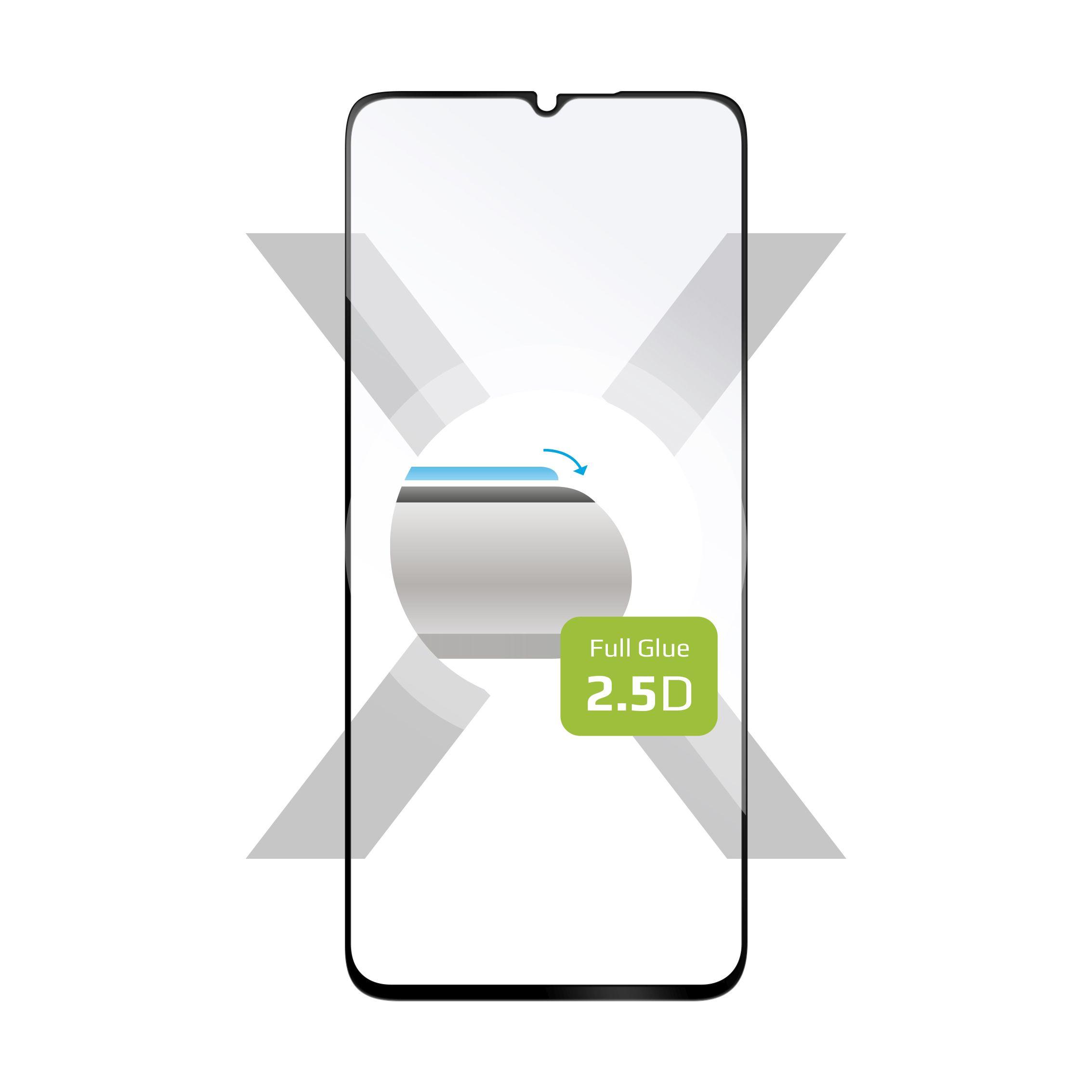 Ochranné tvrzené sklo FIXED Full-Cover pro Xiaomi Mi10 Lite, lepení přes celý displej, černé