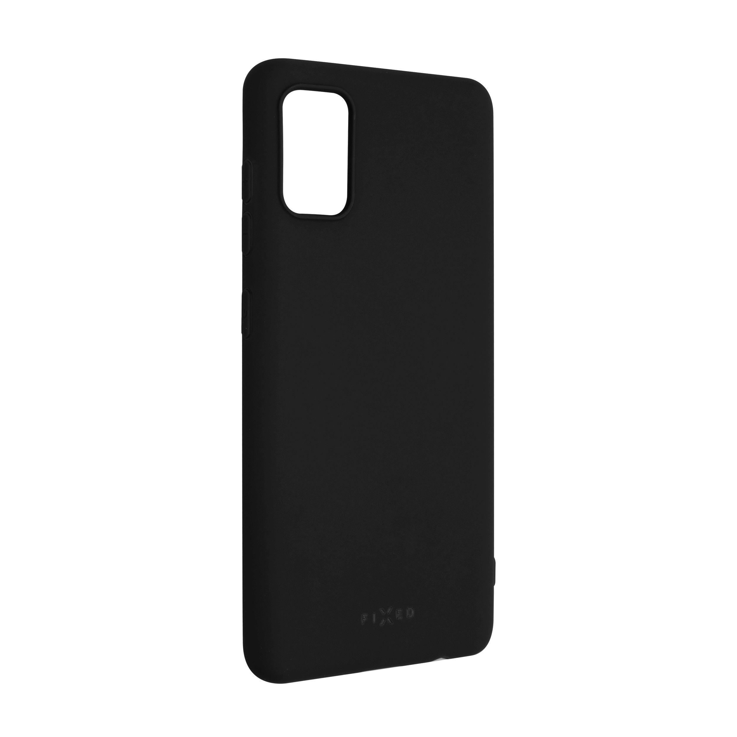 Zadní pogumovaný kryt FIXED Story pro Samsung Galaxy A41, černý