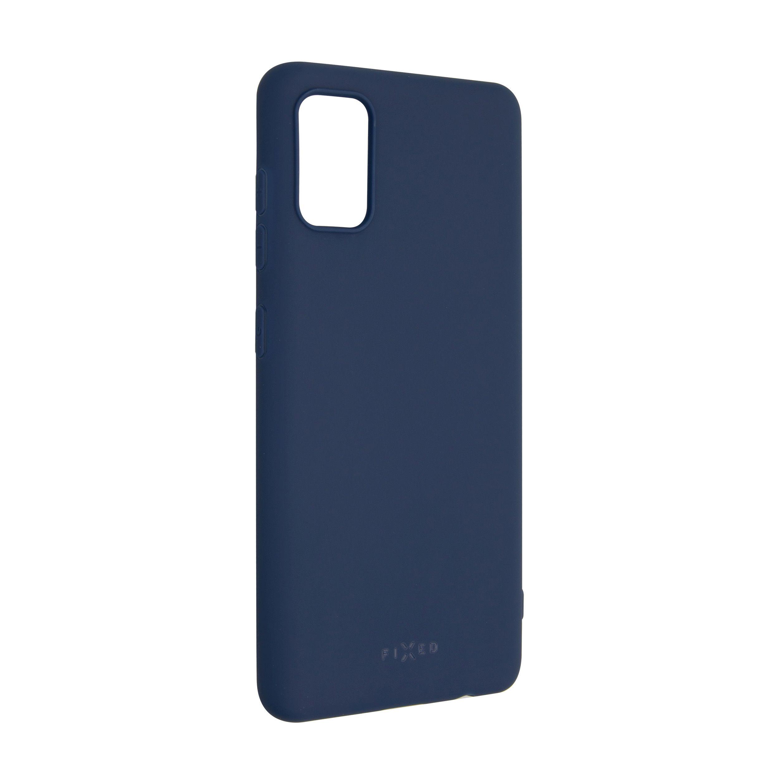Zadní pogumovaný kryt FIXED Story pro Samsung Galaxy A41, modrý