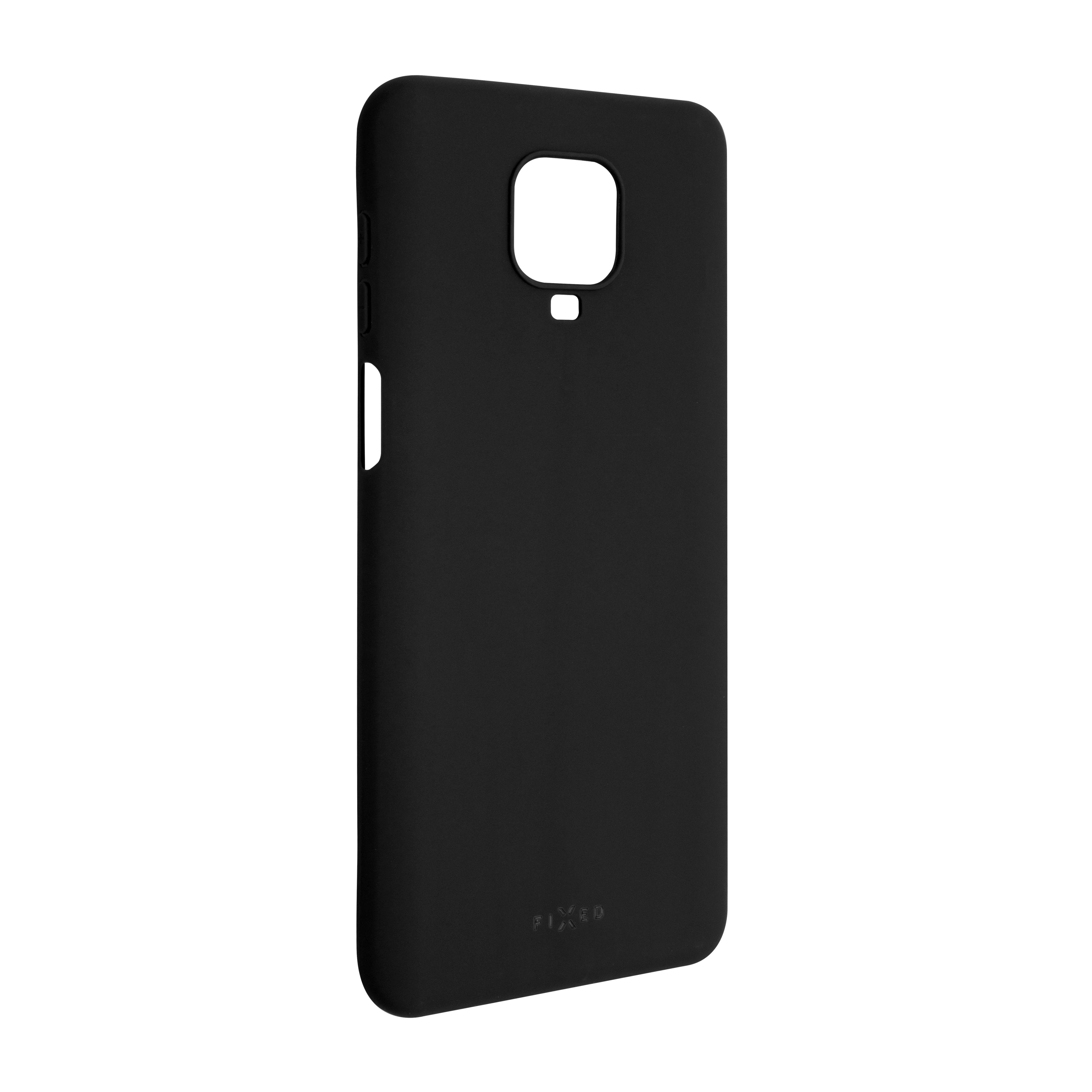 Zadní pogumovaný kryt FIXED Story pro Redmi Note 9 Pro/9 Pro Max/Note 9S, černý