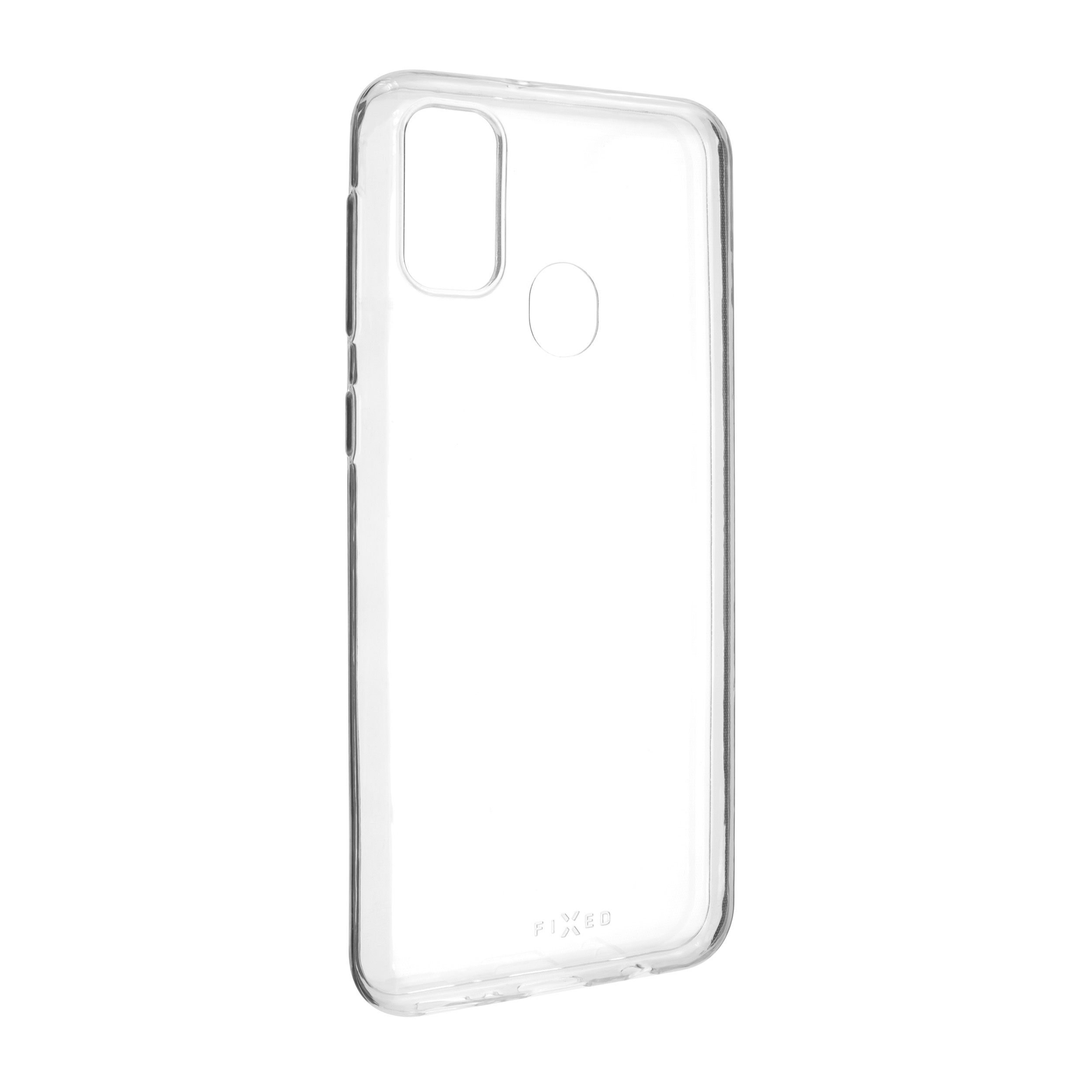 Ultratenké TPU gelové pouzdro FIXED Skin pro Samsung Galaxy M21, 0,6 mm, čiré