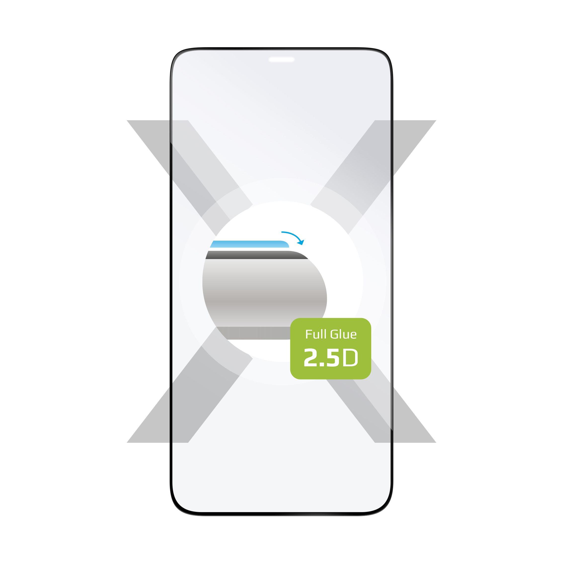 Ochranné tvrzené sklo FIXED Full-Cover pro Apple iPhone 12, lepení přes celý displej, černé