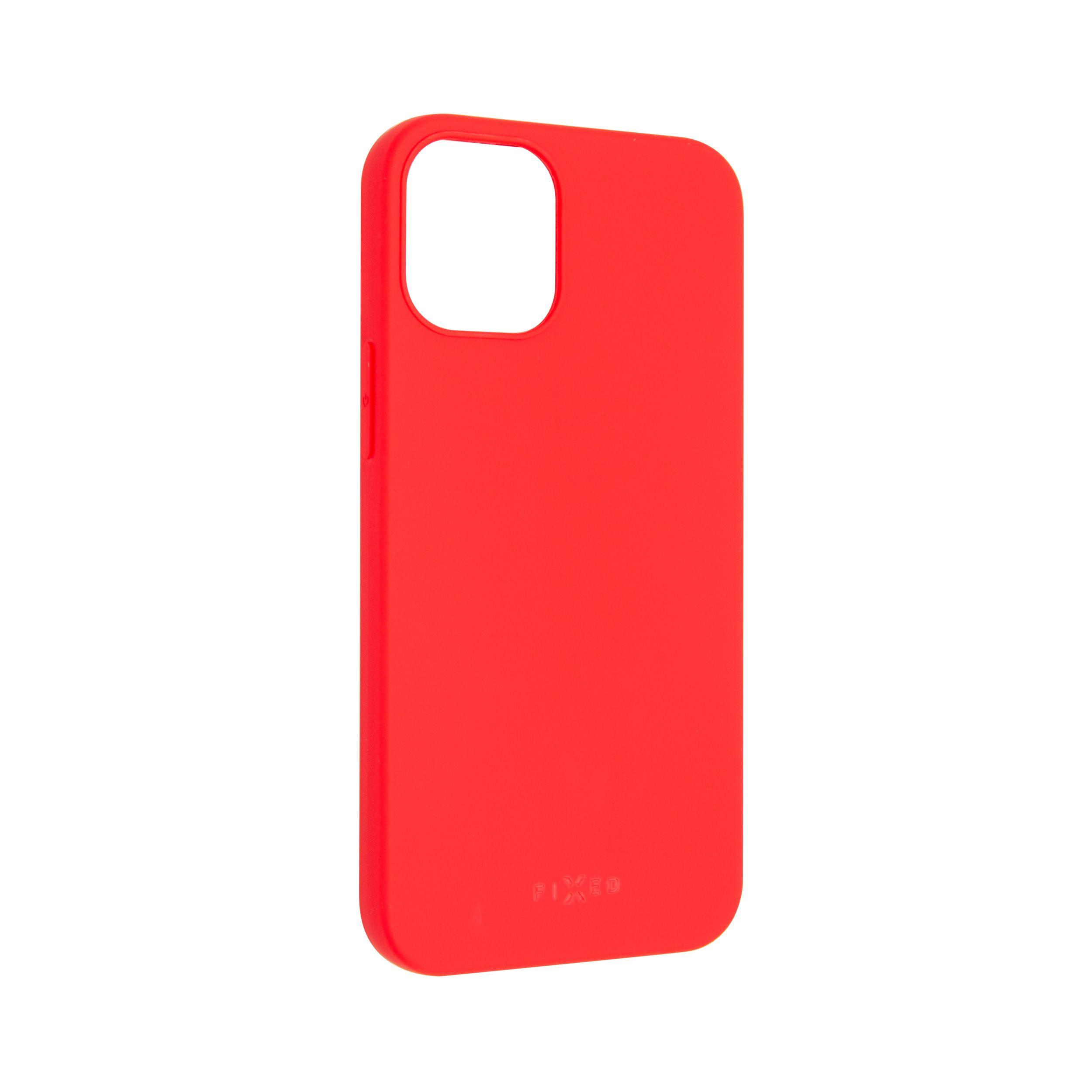 Zadní pogumovaný kryt FIXED Story pro Apple iPhone 12, červený