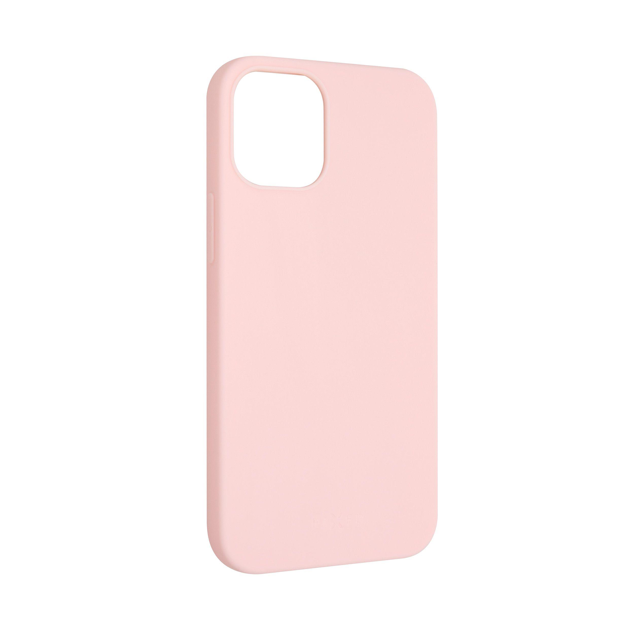 Zadní pogumovaný kryt FIXED Story pro Apple iPhone 12, růžový