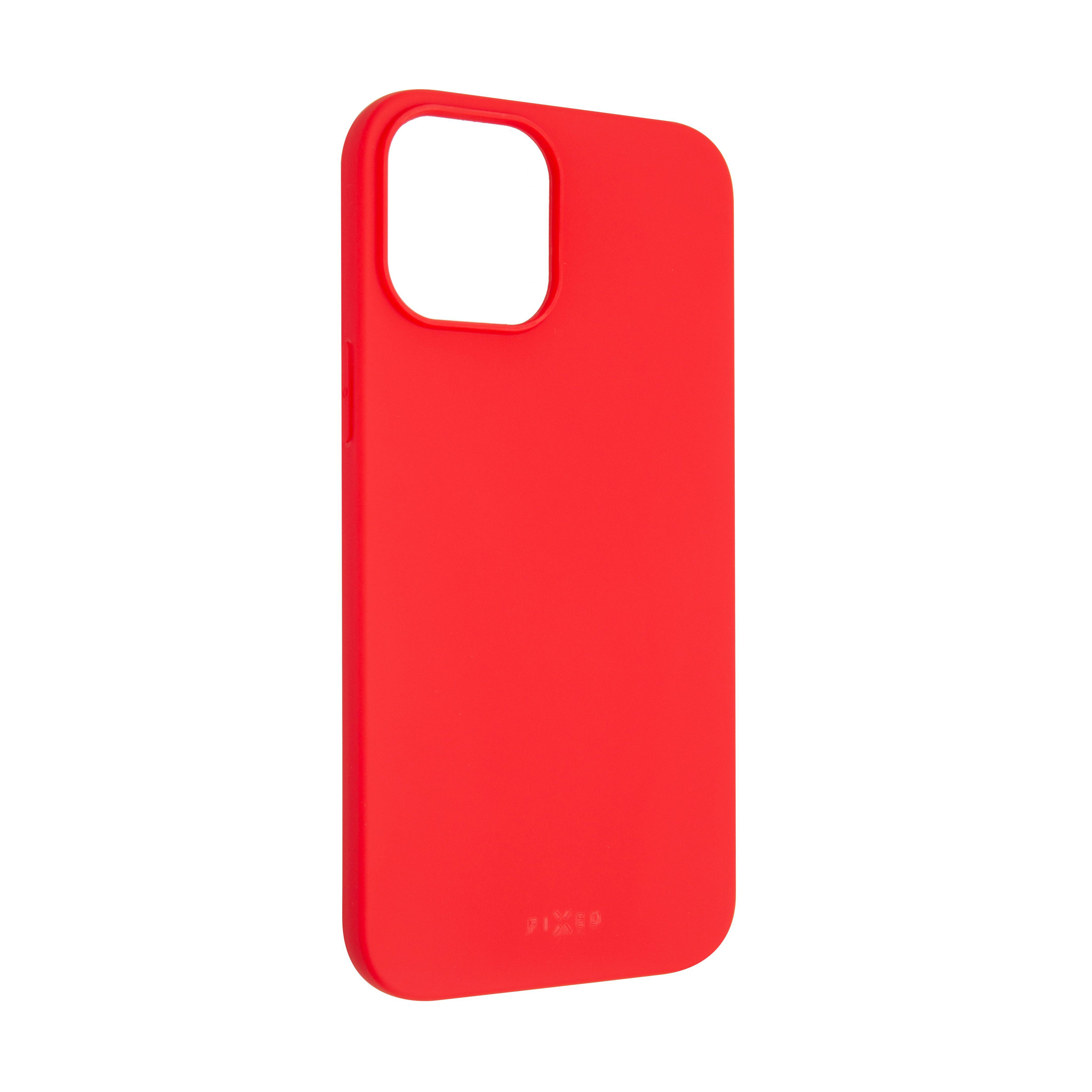 Zadní pogumovaný kryt FIXED Story pro Apple iPhone 12 Pro Max, červený