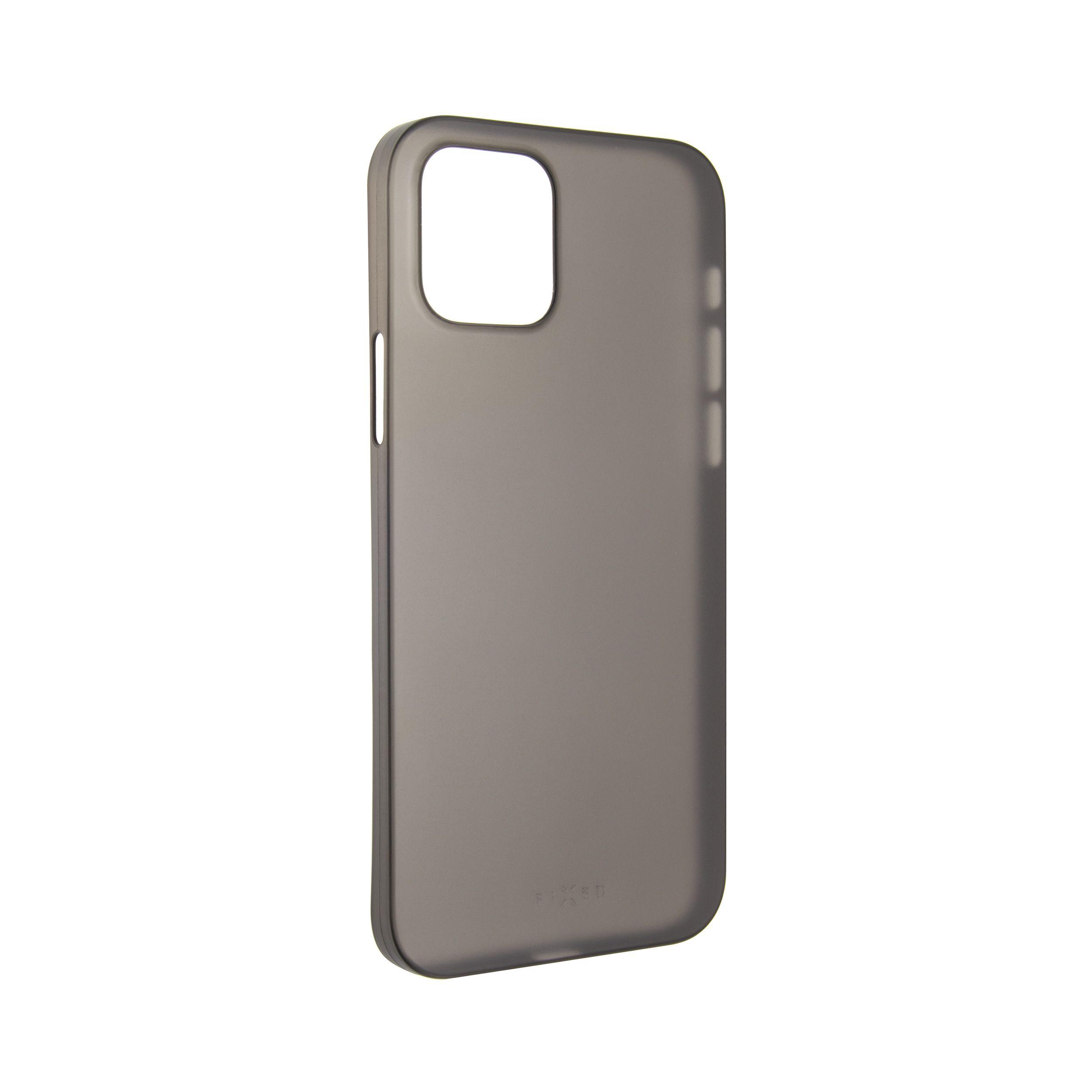 Ultratenký kryt FIXED Peel pro Apple iPhone 12/12 Pro, 0,3 mm, kouřový
