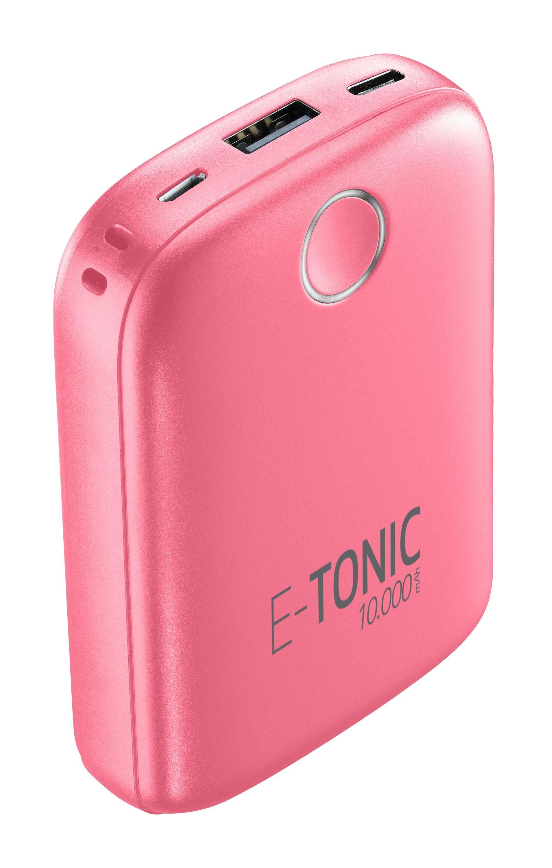 Kompaktní powerbanka E-Tonic 10 000 mAh, růžová