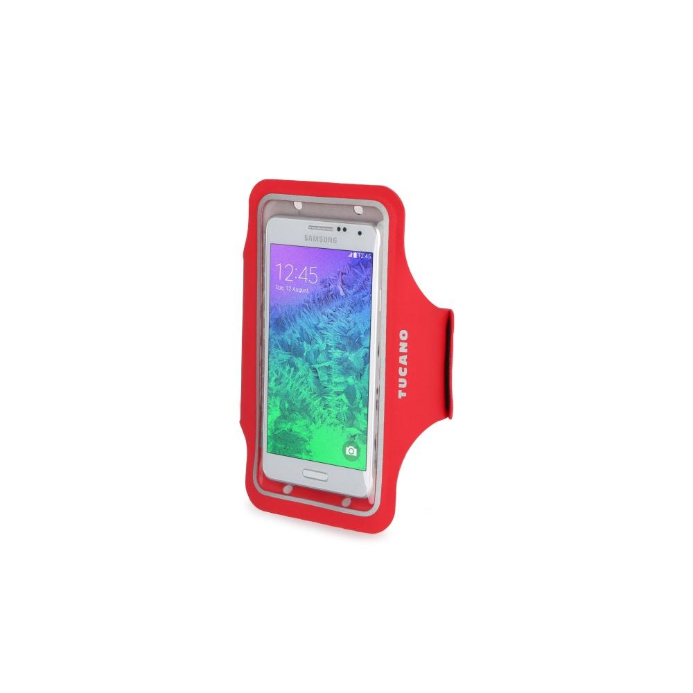 """Ultratenké sportovní pouzdro TUCANO Armband, pro telefony do velikosti 5"""", červené"""