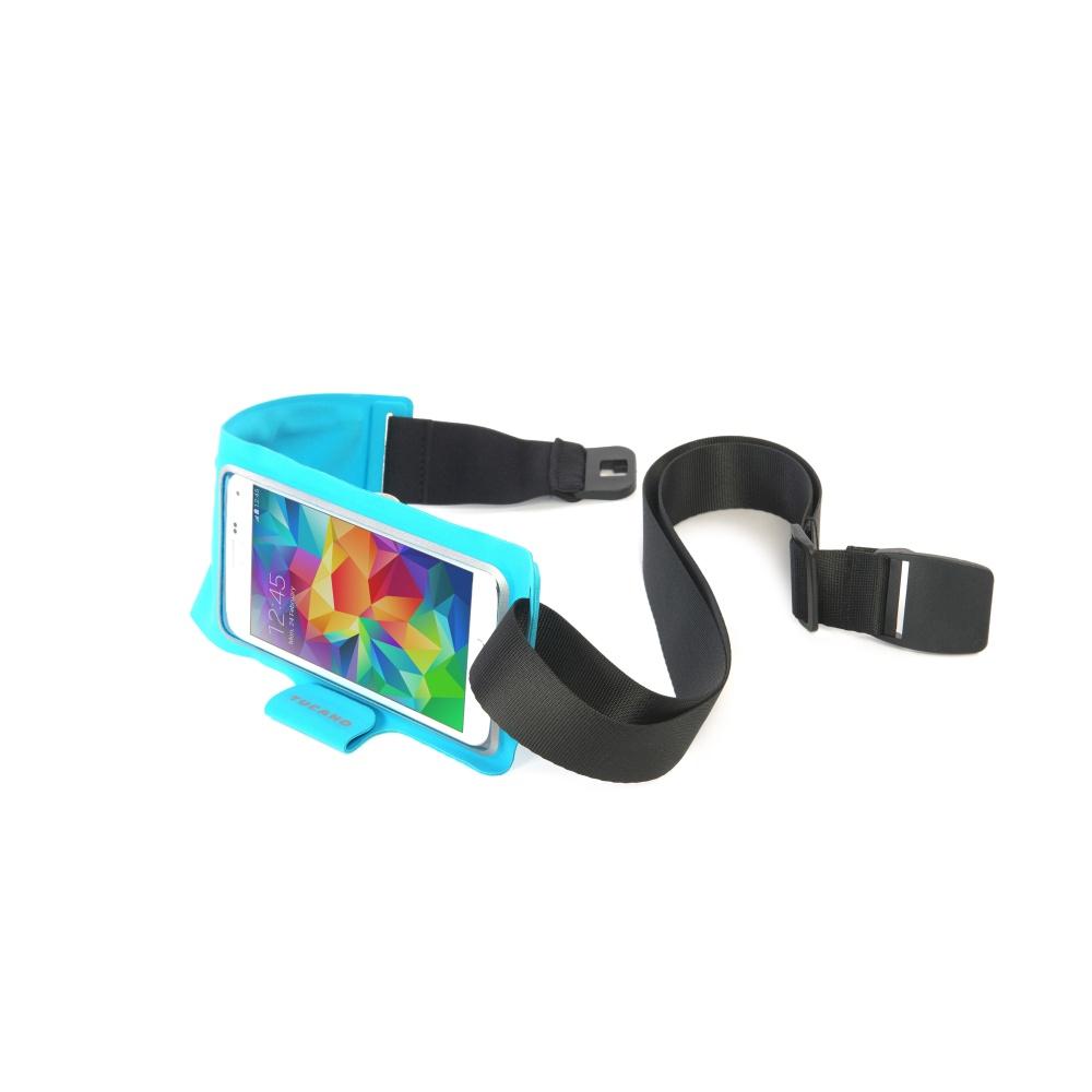 """Ultratenké sportovní pouzdro TUCANO Waistband, pro telefony do velikosti 5"""", modré"""
