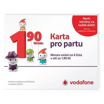 Predplacena Sim Karta Vodafone Karta Pro Partu Sazba 1 90 Kc Pro 4