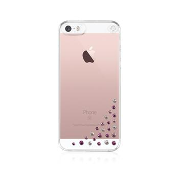Zadní kryt Bling My Thing Diffusion Pink Mix pro Apple iPhone 5/5S/SE, MADE WITH SWAROVSKI® ELEMENTS + folie na displej