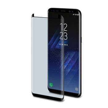 CELLY protective tempered glass Glass for Samsung Galaxy S8 Plus, with ANTI-BLUE-RAY layer (glass into the edges of the screen)