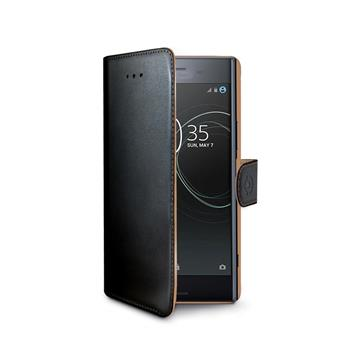 Housing type cell wall paper for Sony Xperia Premium XZ, PU leather, black