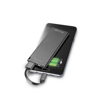 Ultratenká powerbanka CellularLine FREEPOWER SLIM, 3000mAh, černá