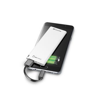 Ultratenká powerbanka CellularLine FREEPOWER SLIM, 3000mAh, bílá