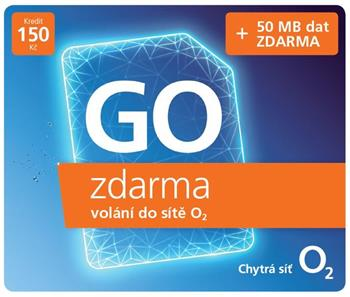 O2 prepaid O2 SIM card with credit of CZK 150, unlimited call for CZK 0 to O2