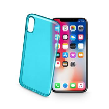 Bolour Gel Hülle CELLULARLINE COLOR für Apple iPhone X/XS, grün