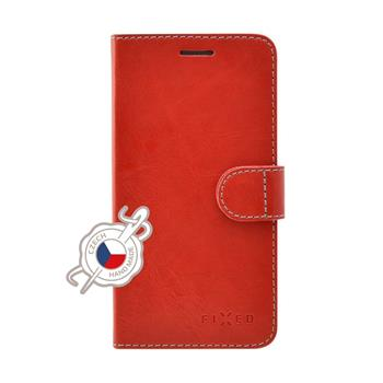 FIXED FIT bookcase case for Lenovo K8 Plus, red