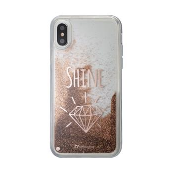 Gelové pouzdro Cellularline Stardust pro Apple iPhone X, motiv Shine