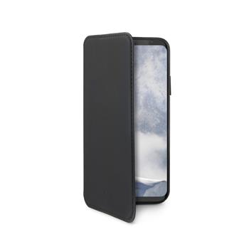 CELLY Prestige Bookcase for Samsung Galaxy S9, PU Leather, Black