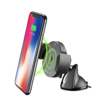 CellularLine Pilot Active universal holder with suction cup and wireless charging function, black
