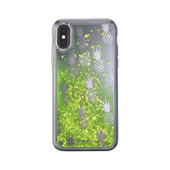 Gel case Cellularline Stardust for Apple iPhone X/XS, Pineapple motif
