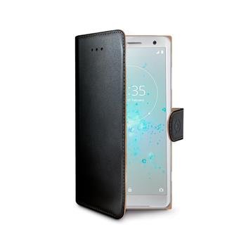 CELLY Wally bookcase for Sony Xperia XZ2 Compact, PU leather, black