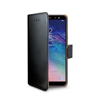 CELLY Wally bookcase for Samsung Galaxy A6 + (2018), PU leather, black