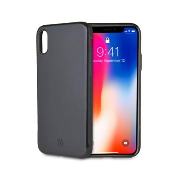 UTE Magnetic TPU Cover CELLY GHOSTSKIN for Apple iPhone X/XS, compatible with GHOST holders, black