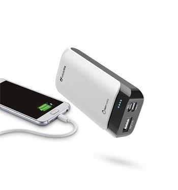 Prémiová powerbanka CellularLine PowerUp s Usb-C, 5200mAh, bílá