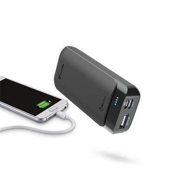 Prémiová powerbanka CellularLine PowerUp s Usb-C, 5200mAh, černá