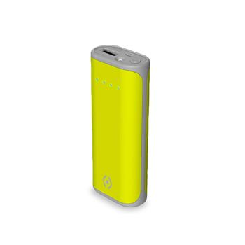 Power bank CELLY Daily with USB output, 5000 mAh, 2.4 A, green