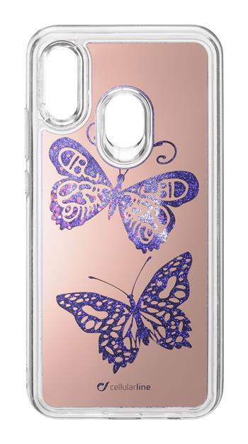 Cellularline Stardust Case for Huawei P20 Lite, Butterfly theme