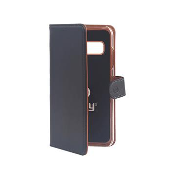CELLY WALL bookcase type for Samsung Galaxy S10, PU leather, black