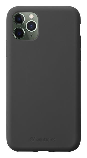 Protective Silicone Cover CellularLine SENSATION for Apple iPhone 11 Pro Max, Black